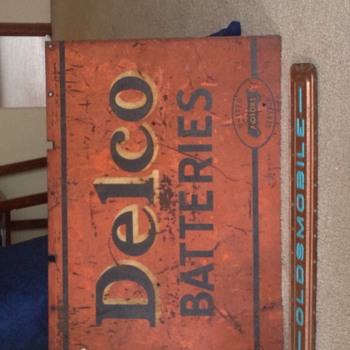 My Delco Battery double sided sign