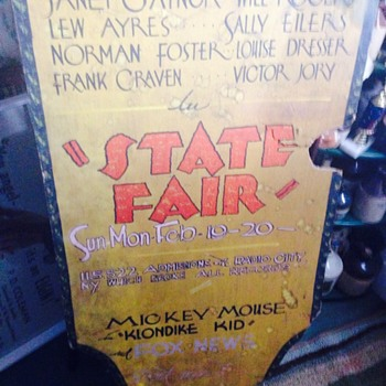 State Fair Play Sign Radio City New York - Advertising