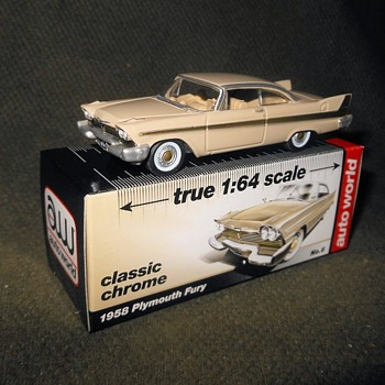 Auto World True 1:64 Scale 1958 Plymouth Fury - Model Cars
