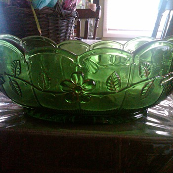 A Green Glass Bowl from my Grandmother. - Glassware