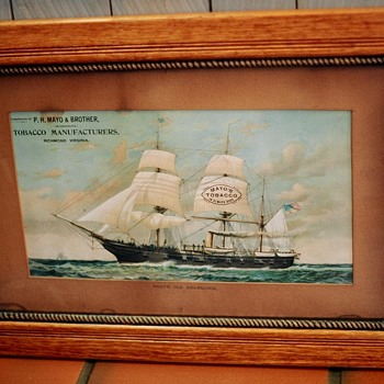 Mayo Tobacco Advertizing USS Kearsarge Sailing Ship - Military and Wartime