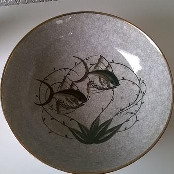 Lyngby Porcelæn Craquelé Porcelain Bowl Made Between 1936 to 1945 - Flea Market Find! - Pottery