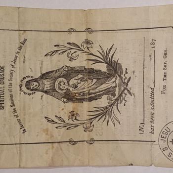 Spiritual crusade Admission ticket?? - Paper