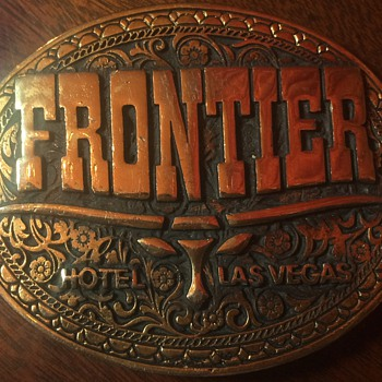 Vintage Frontier Hotel & Casino Las Vegas Belt Buckle (now Closed & Imploded) - Accessories