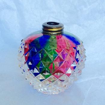 DeVilbiss Rainbow Handcut Crystal Perfume Bottle