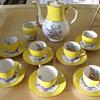 Theodore Haviland-Limoges Yellow demi tass set