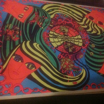 1960's Blacklight Poster