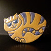 "Davis Vachon ""Rocking Cat"" raku fired ceramic"