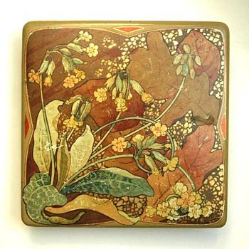 rare papermaché box by EUGENE WINDECK & ADT FRERES, 1905 - Art Nouveau