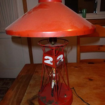 Carnival/Circus? Buoy Ringmaster Folk Art Lamp - Folk Art