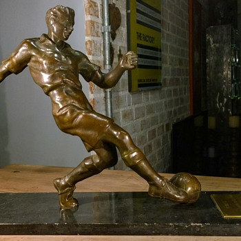 Football (soccer) Trophy mid-1930s to early 1950s - Football