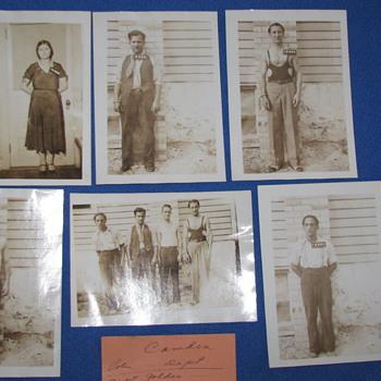 Vintage 1931 Prisoner Photos of Stick-up Mob - Photographs