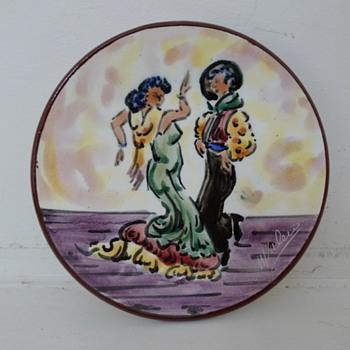 M. Valero Flamenco Dancers Plate - Pottery
