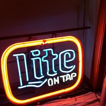 Lite Beer Neon Sign - Breweriana