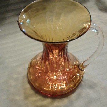Amber Glass Pitcher/Creamer? Not crackle, confused.