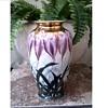 "Beautiful ""Toyo"" Japanese Kutani-Satsuma Labled 10"" Vase /Hand Painted Crocus with Gilding/Circa 20th Century"