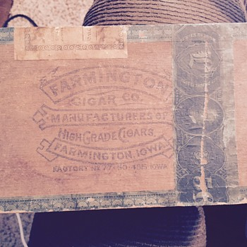 Farmington Co Cigar Box