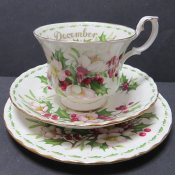 Royal Albert Flower of the Month - December - Trio - China and Dinnerware