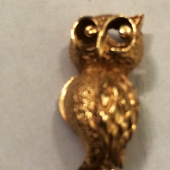 Gold Owl Pin - Fine Jewelry
