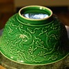 Monochrome Green Bowl with Qianlong Mark