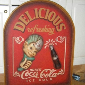 Wooden Sign Coca Cola Sprite Boy