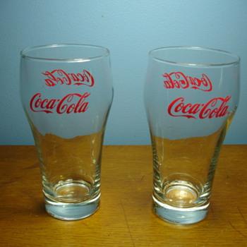 Antique Coca Cola glasses. - Coca-Cola