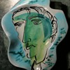 Cinelli Amorphous Plate with Portrait - Italy - Marcel Duchamp?