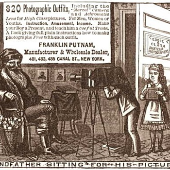Santa In 1880s Vintage Camera Advertising