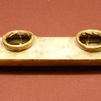 "Extremely rare 42"" model of an Alaskan 4-hole baidarka, c. 1900"