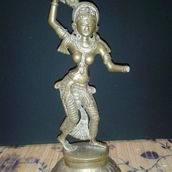 Vintage Asian Bronze Statue - Asian
