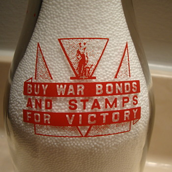 Tucker's Pasteurized Milk...Rolla Missouri War Slogan Milk Bottle..... - Bottles