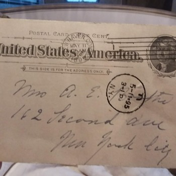 Postal Card 1895 - Postcards