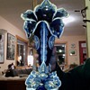 Majolica Blue Flower Vases