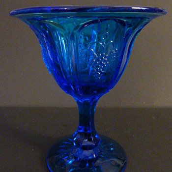 Fenton Art Glass for Red-Cliff Company. colonial blue compote - Glassware