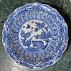Kangxi Plate with Strange Lingzi / Fungus Flowers?