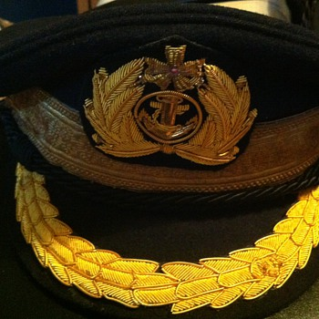 Post war IJN officer's hat - Hats