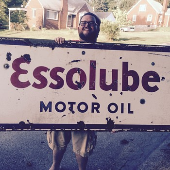 1920's EssoLube porcelain sign - Petroliana