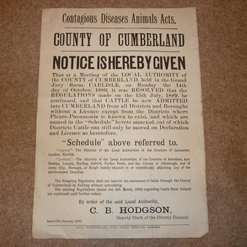 Rare English Poster - Paper