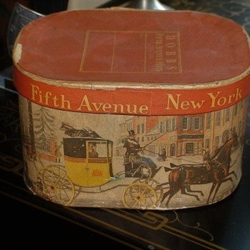 Miniature Dobb's Fifth Avenue Hat Boxes - Advertising