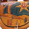 1960s Hand Tooled & Colored Hippie Shoulder Bag from Michigan