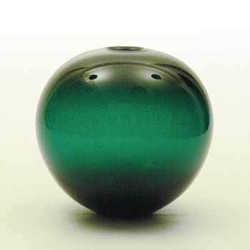 Per Lütken_rare GRØNLAND ball vase - Art Glass