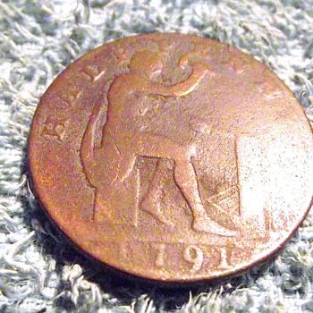 1791-john wilkinson halfpenny token.