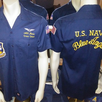 U.S. Navy Blue Angels Ground Crew Shirts. - Military and Wartime