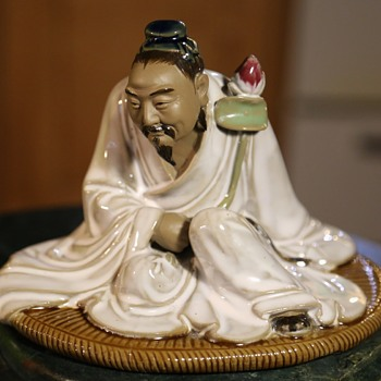 Large Shiwan Sculpture ofa a Priest - Asian