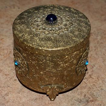 Vintage THORENS Music powder Box Silverite Co. Unknown date - Music Memorabilia