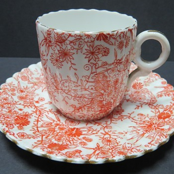 Pre Shelley Wileman Cup and Saucer - rd 117220 - Jungle Sheet - China and Dinnerware