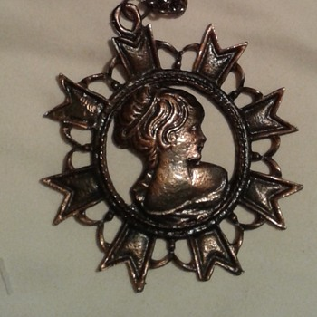 Metal Necklace With Woman's Face - Fine Jewelry
