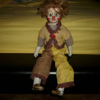 Vintage Porcelain Clown - Dolls