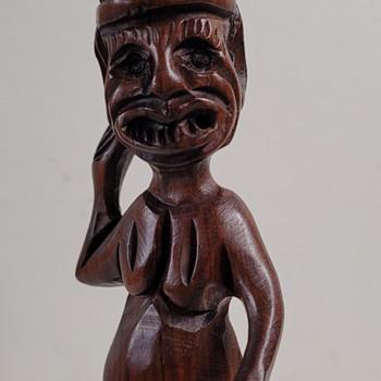 Wood Carved Figure of Not Sure? - Folk Art