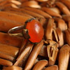 Art deco silver and carnelian ring